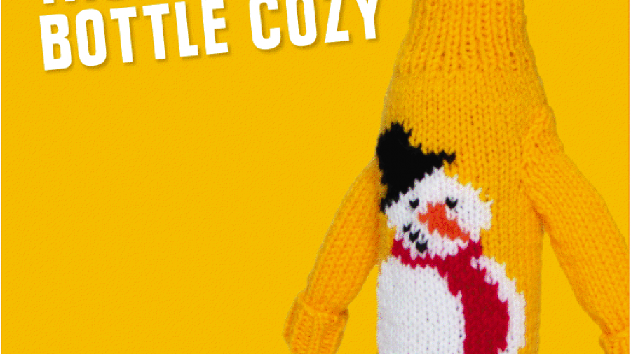 Knit Your Own Tacky Wine Bottle Cozy by Yellow Tail
