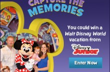 Disney Junior Capture the Memories Contest