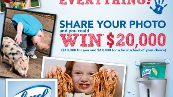 'Is Your Kid a Kid Who Touches Everything?' Photo Contest by Lysol #HealthyFamilies