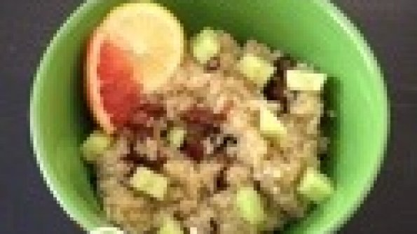Cucumber Nut Quinoa with a Cirtus Honey Dill Dressing #Recipe