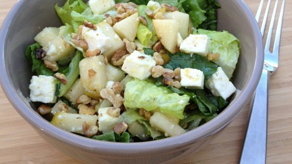 Pear, Feta, Walnut Salad (Recipe)