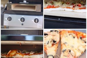 Pizza on the barbecue with BakerStone