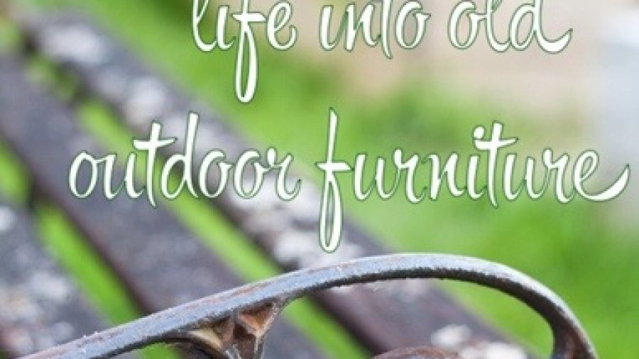 Old Furniture for a post on updating your outdoor furniture on the cheap