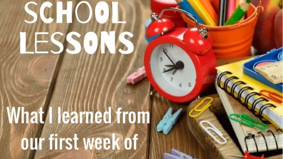 What I learned from our first week of back to school