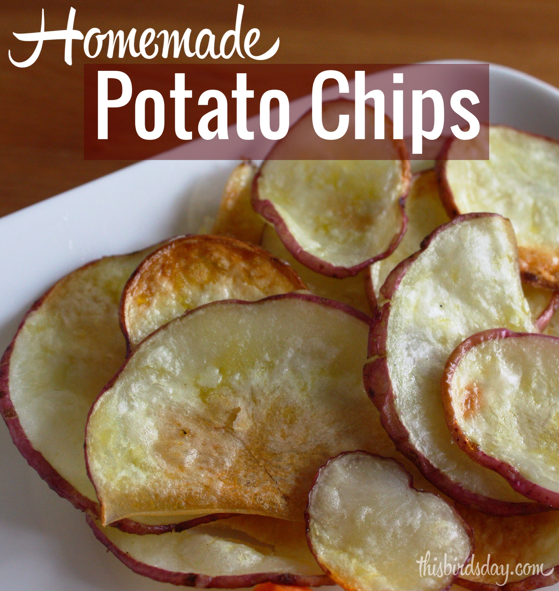 Homemade Baked Potato Chips Recipe