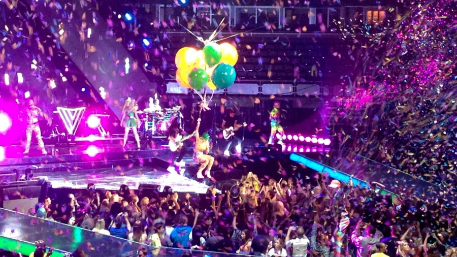 Katy Perry in Edmonton singing the Birthday Song on her Prismatic World Tour