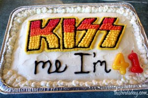 Easy fun cake design for KISS or heavy metal fan