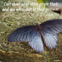 """Care what other people think and you will always be their prisoner."" Lao Tzu. Photo copyright Sheri Landry"