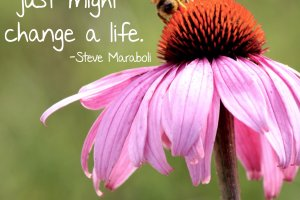 """Smile at strangers and you just might change a life."" Steve Maraboli. Photo copyright Sheri Landry"
