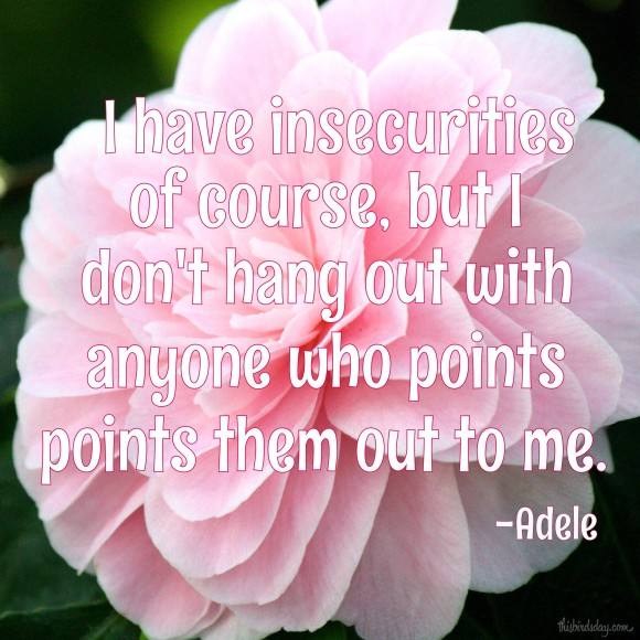 """I have insecurities of course, but I don't hang out with anyone who points them out to me."" Adele, Photo copyright Sheri Landry"