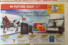 Best Buy is closing all Future Shop locations. This is the lat flyer we will see from them. Photo credits Sheri Landry (thisbirdsday.com)