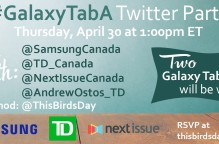 Join the Samsung #GalaxyTabA Twitter party on April 30