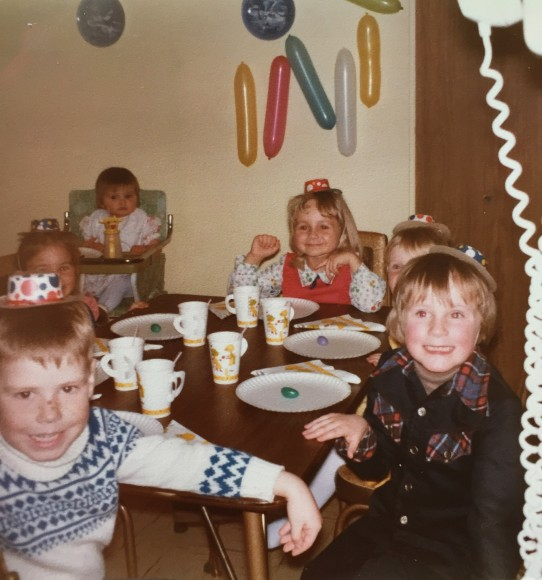 My birthday party at age 5. Photo copyrights Sheri Landry.