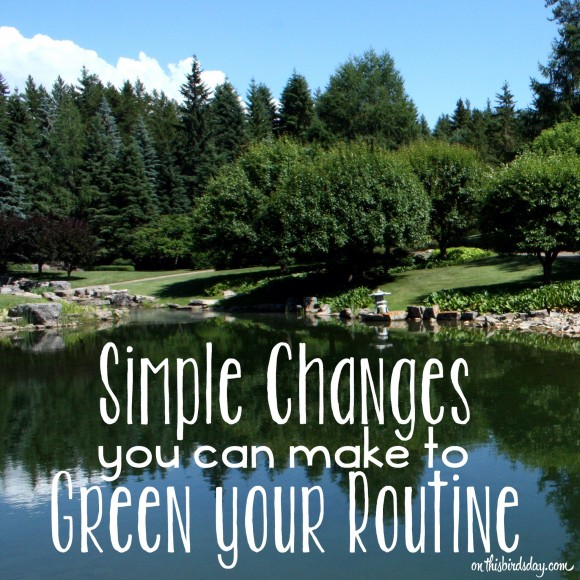 Simple changes you can make to green your routine for Earth Day - photo copyright Sheri Landry