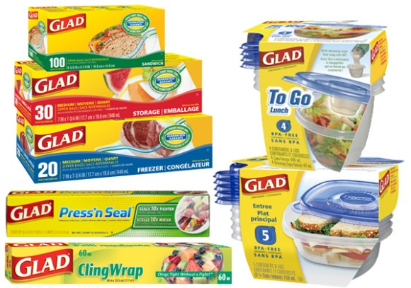 Use Glad storage containers and bags to properly store your food.