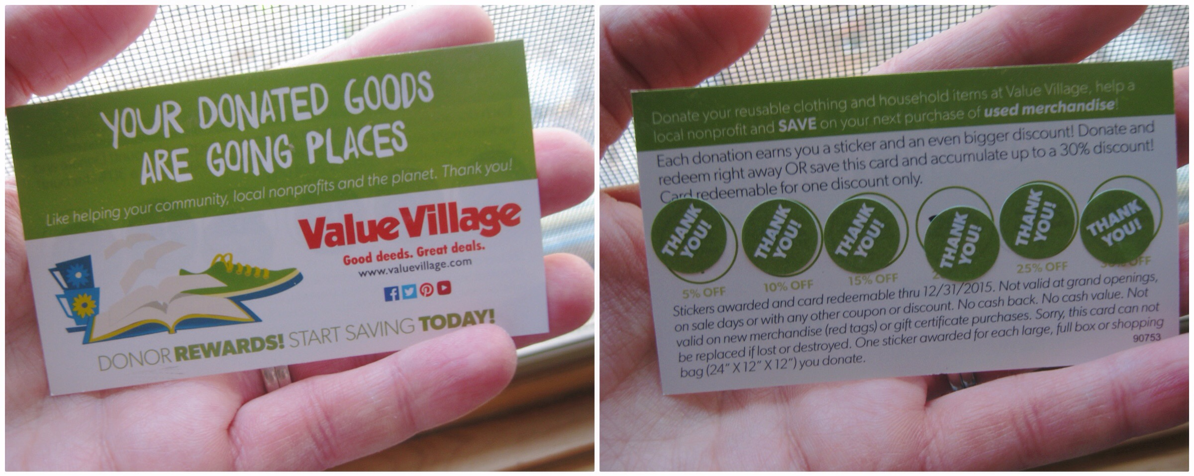 value village savers card