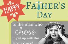 A fun Happy Father's Day wish.