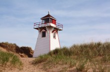 You can find many of these lighthouses to photograph on the island. This one was near Covehead Bay. Photo copyright Sheri Landry
