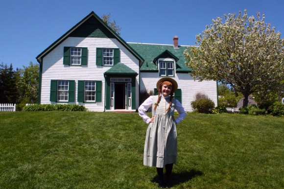 Anne herself dropped in for a visit while we were touring the grounds at Anne of Green Gables. I recommend grabbing a Raspberry Cordial to drink while you are here. Photo copyright Sheri Landry