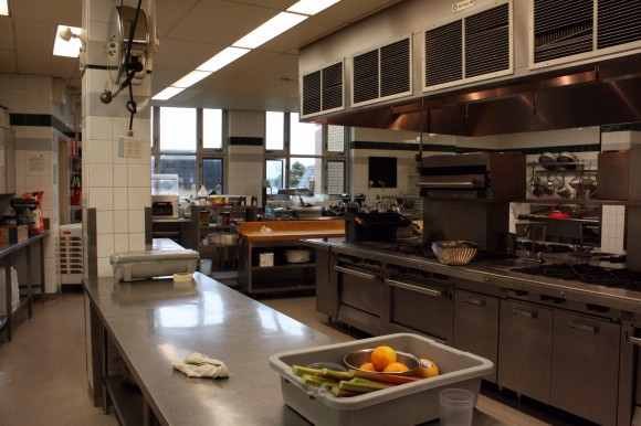 A cooking class at the Culinary Institue of Canada in Prince Edward Island