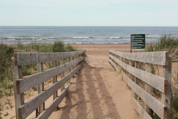 One of many beaches along the coast in the PEI National Park, Brackley-Dalvay. Photo copyright Sheri Landry