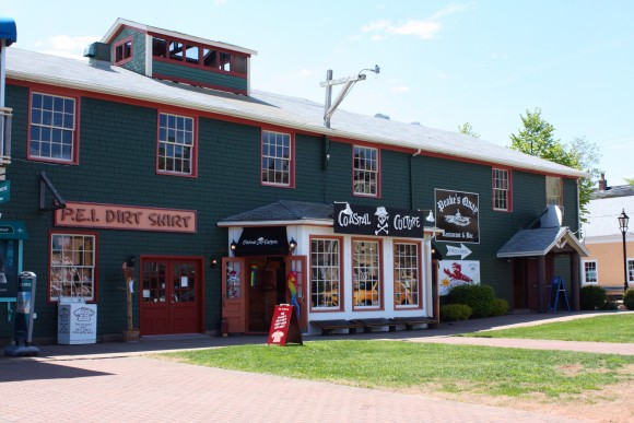 Some stores at Peakes Quay in Charlottetown, PEI. Photo copyright Sheri Landry