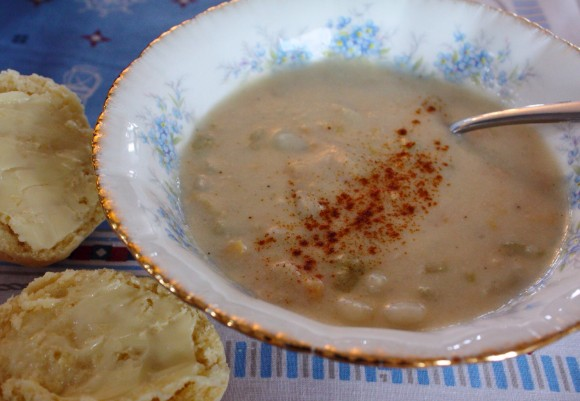 Goldie's homemade Clam Chowder was memorable.