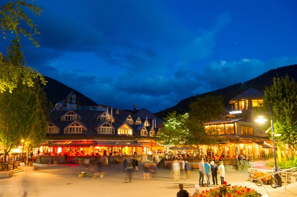 Whistler village on a clear summer night. Photo credits Mike Crane/Tourism Whistler