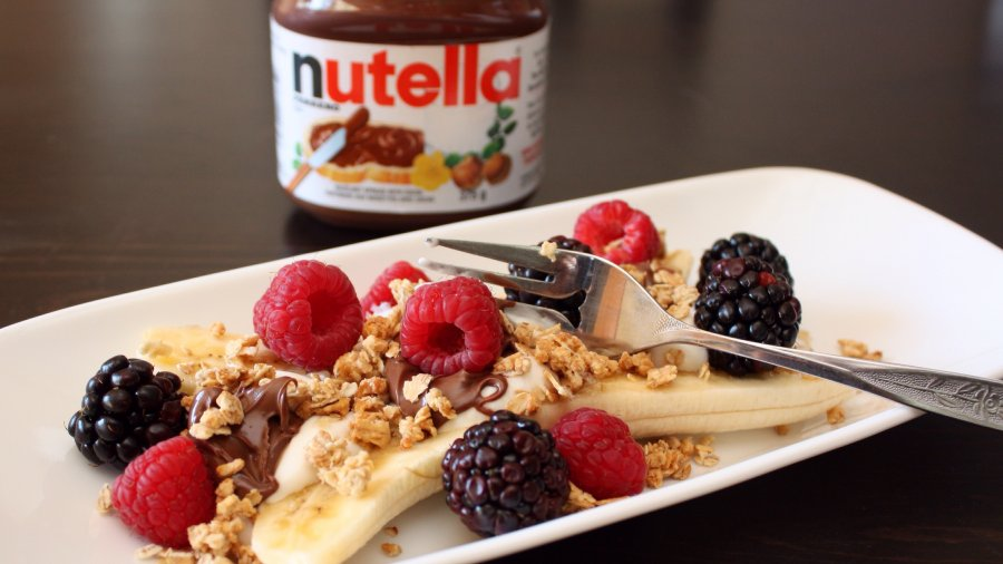 Nutella Banana Split Breakfast