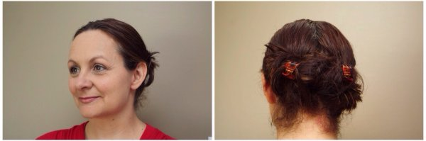 Using Goody slideproof you can create this twist from a double ponytail in less than two minutes.