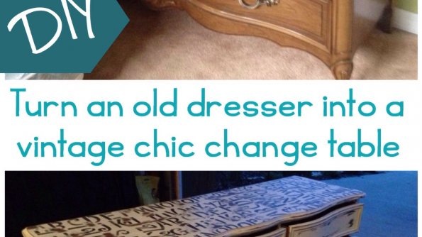 How to turn an old dresser into a vintage chic change table