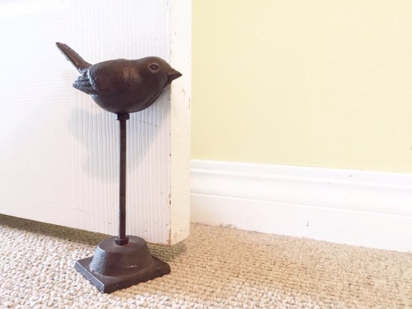 The best door stop ever. This is one of my favourite things in this room.