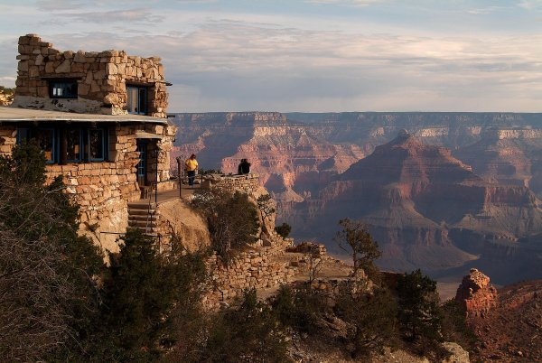 Lookout Studio at the South Rim of the Grand Canyon. Photo Credit: Scott Johnson