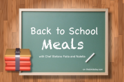 Back to school meals with Chef Stefano Faita