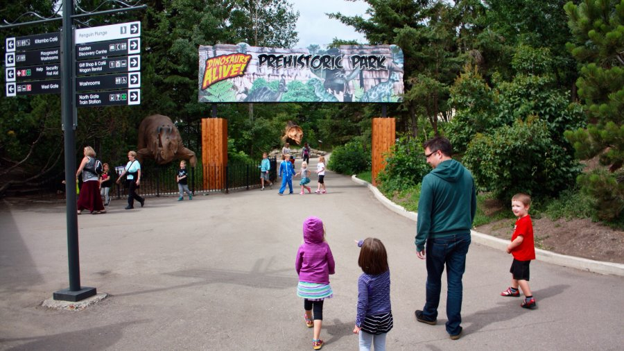 Prehistoric Park is at the Calgary Zoo for a limited time. Photo Sheri Landry
