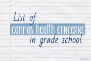 List of common health concerns in grade school
