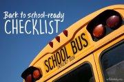 Back to school-ready checklist