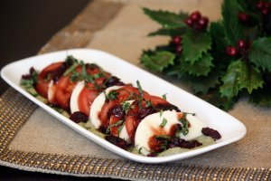 Holiday Caprese Salad. Recipe from Ocean Spray.