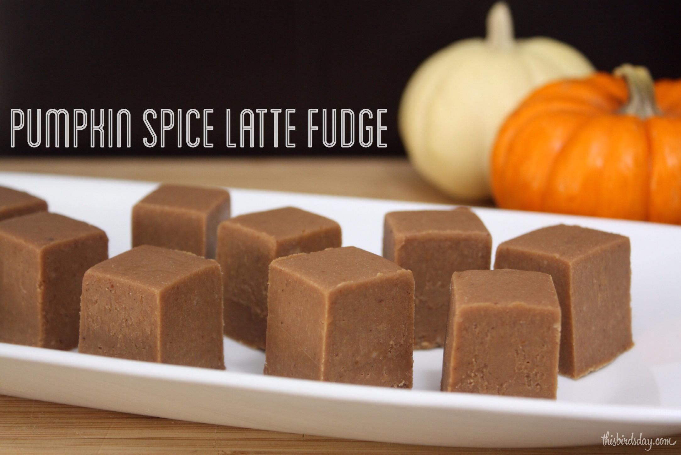Pumpkin Spice Latte Fudge Recipe