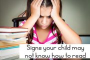Signs your child may not know how to read