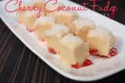 Cherry Coconut Fudge Recipe