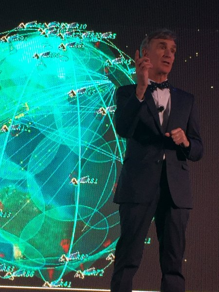 Bill Nye spoke during the first weekend of the Dark Sky Festival this year.