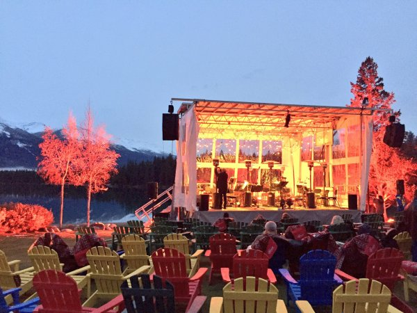 After a delicious meal, we walked out to spend an evening with the Edmonton Symphony Orchestra under the stars.