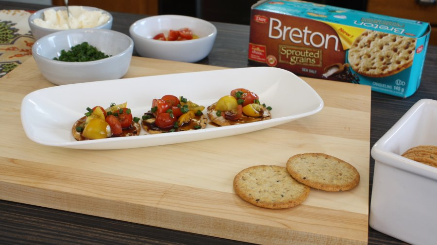 Balsamic Tomato Bites with Breton