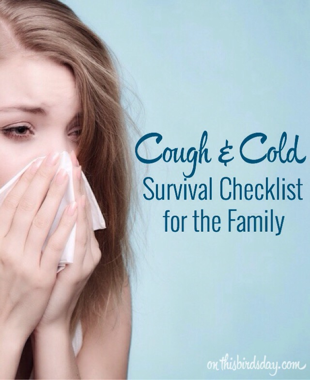Cough & cold survival checklist for the Family