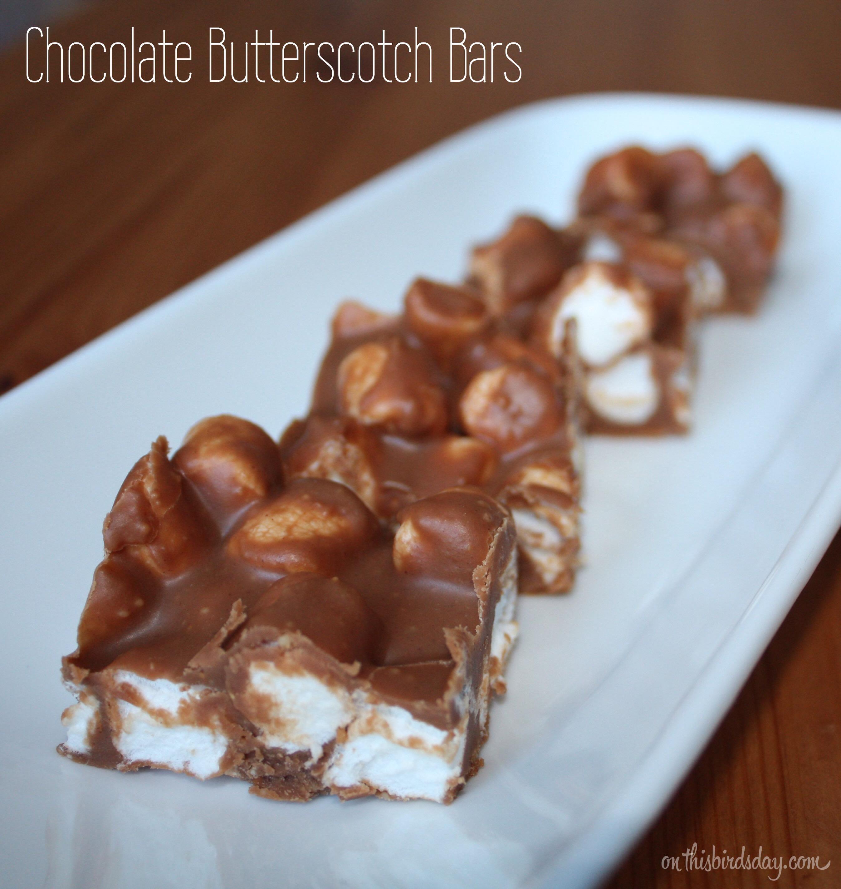 Chocolate Butterscotch Bars Recipe