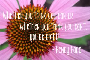 Whether you think you can or think you can't, you're right. Henry Ford Photo copyright: Sheri Landry