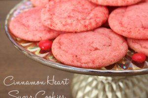 A delicious sugar cookie using cinnamon heart candies. Fun for Valentine's.