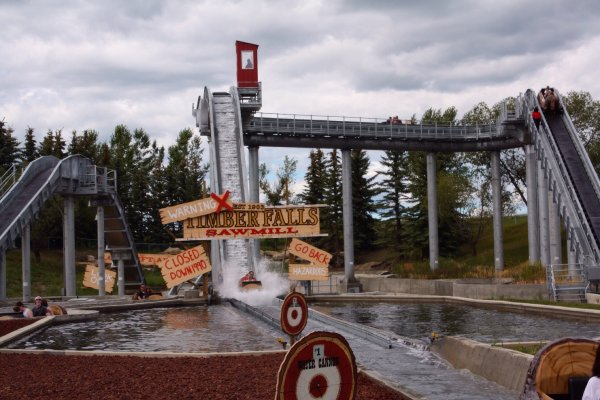 Timber Falls is Calaway Park's newest attraction. Photo Sheri Landry