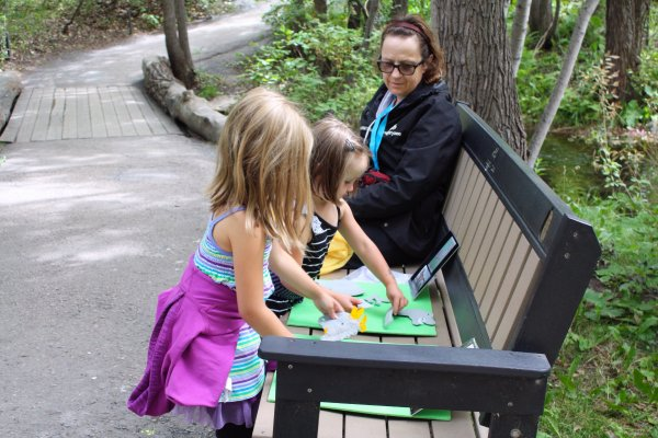 Kids and adults can find many hands on activities throughout the Zoo to keep them busy. Photo Sheri Landry